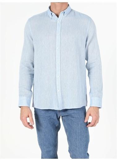 Colin's CL1053687_Q1.V2_BLE  Erkek Uzun Kol Gömlek Mavi